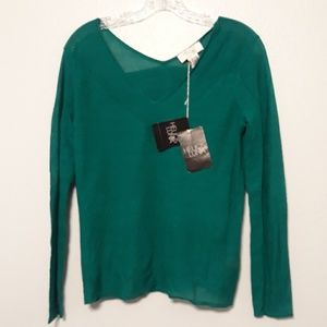 Helios and Luna NWT V-Neck Pullover Sweater S
